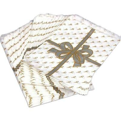 """100 Paper Gift Bags Silver Bow Shopping Tote 5 x 7"""" Bag"""