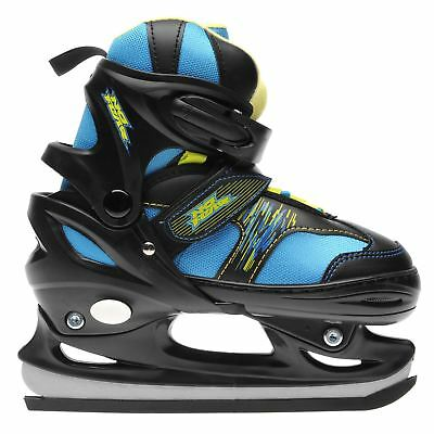 No Fear Kids Bolt Junior Ice Skates Classic Padded Ankle Collar Touch and Close