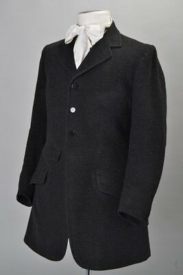 Foxhunter's Bespoke Tailored 1920s' Charcoal Field Coat. Ref ELV