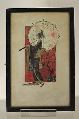 Beautiful Antique Japanese 18/19ThC Traditional Painting - Framed