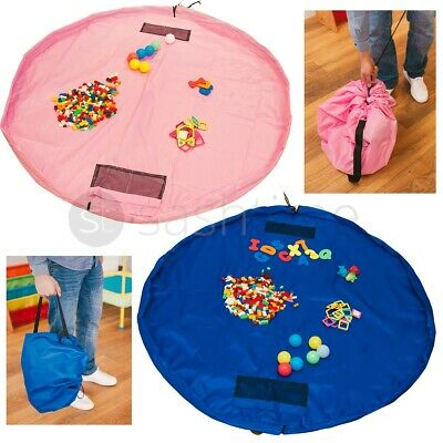 2 in 1 LARGE TOY STORAGE BAG TIDY TOYS KIDS PLAY MAT RUG ORGANISER FOR LEGOS CAR