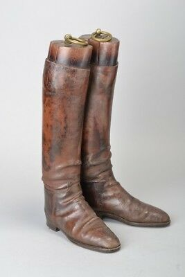 Bengal Lancers Cavalry Officer's 1920s' Polo / Riding Boots + Wooden Trees. DAF