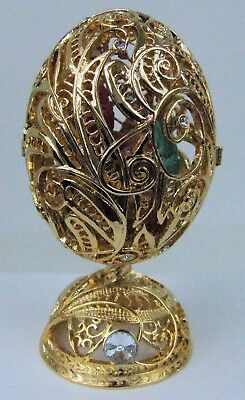 "Russian Replica Faberge egg featuring Wire Cage ""Christ Child"" E09-12-14"