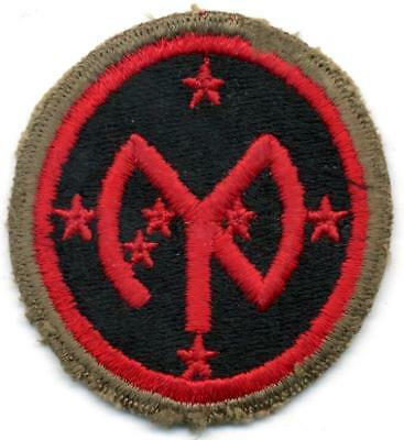WW 2 US Army 27th Infantry Division OD Border Patch Inv# B287