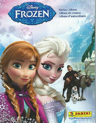 Five Frozen Sticker Boxes (50 packs each) & 5 Albums