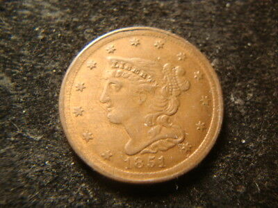 1851 AU Half Cent Contemporary Restrike From  1850's-1860's  Decent  Look