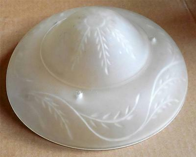 Vtg Art Deco Frosted Glass Ceiling Light Fixture Shade Replacement Shade # 229