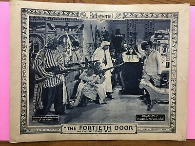 1924-The Fortieth Door-Allene Ray-(6) Lobby Cards-Claws of the Vulture-Silent