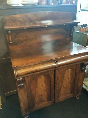 Antique Original William IV Mahogany Chiffonier  Sideboard Cupboard