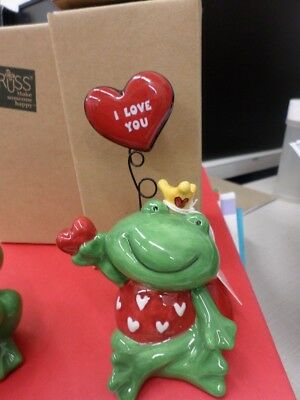 "Russ I love you FROG holding a heart ""Leapin for Love"" 35P"