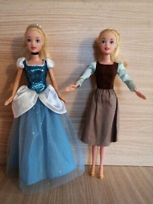 Disney Classics Cinderella 2 Dolls. Before and After the BALL