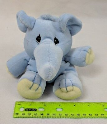 Precious Moments Tender Tails Blue Elephant Beanie Plush Stuffed Animal Enesco