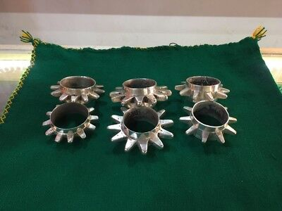 Very Rare Heavy Silver SPIKED BERBER BRACELET SET Ait Atta Morocco Antique