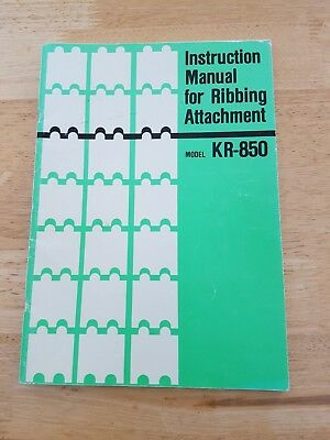 Instruction Manual for Ribbing Attachment