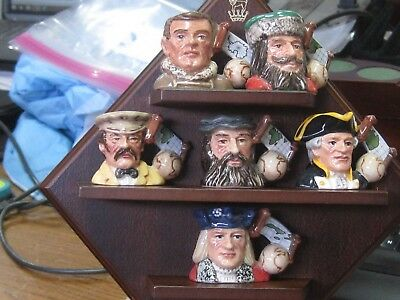 Royal Doulton Character Toby Jug - Rare 'The Explorers' - Tiny Tinies Set - MINT