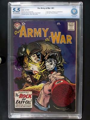 Our Army At War #81 - CBCS 5.5 FN- DC 1959 - Last Sgt. Rock prototype - RARE!!!