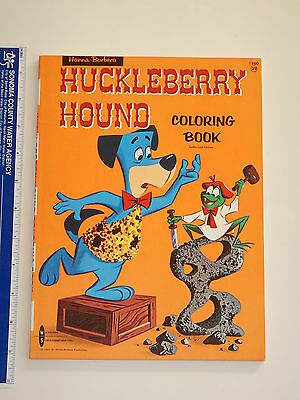 1962 Hanna Barbera Huckleberry Hound Coloring Book  High Grade Unused