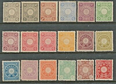 Japan Chrysanthemum Definitive Issue  Complete Set    VLH to H