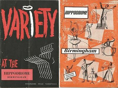Two Fifties Variety Programmes From The Birmingham Hippodrome