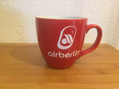 Air Berlin AB rote Tasse Kaffeebecher Teetasse airberlin airline coffee mug