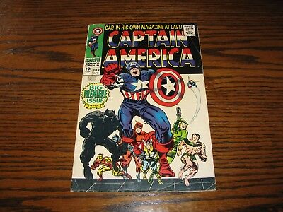 Marvel - CAPTAIN AMERICA #100 - Premiere Issue!!  Glossy VG+/FN 1968