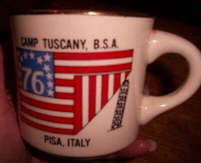 Boy Scout BSA Cup CAMP TUSCANY B.S.A. PISA, ITALY 1976! Vintage RARE Made in USA
