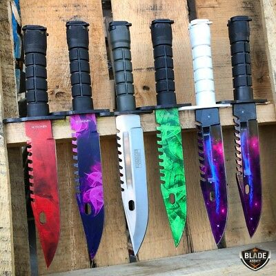 "13"" CSGO Tactical Fixed Blade Survival Hunting Knife Bayonet Military Bowie New"