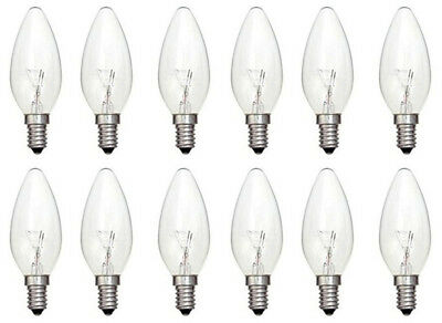 Mains 240V Screw Cap 660 Lumen 6 x STATUS 60W Classic Clear ES E27 Candle Light Bulbs Dimmable Incandescent Lamps