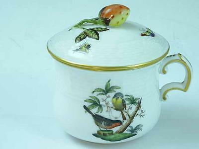 Herend Bird & Butterfly Covered Pot de Creme Cup #1