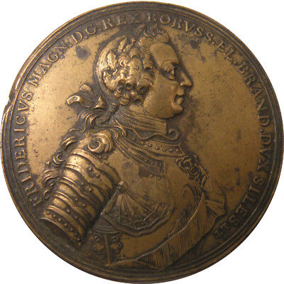 Prussian King Frederick The Great Victory Over Austria Bronze Medal
