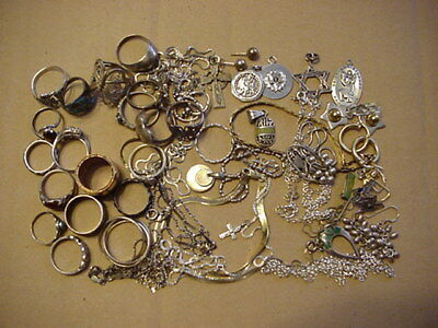 129 Gram lot of Sterling Silver (925) Jewelry Wear or Scrap