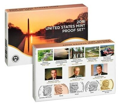 2016 S U.S. Mint Clad Proof set 13 coins with Native American & Quarters
