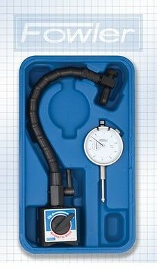 Fowler Dial Indicator Gauge - Flexible Arm - Magnetic Base