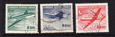 Chile 1955 Airmails Foreign Watermark Used