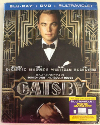The Great Gatsby Blu-ray 2013 DiCaprio/Tobey Maguire/Carey Mulligan NEW