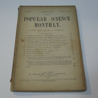 Vintage Popular Science Monthly Magazine - December 1875