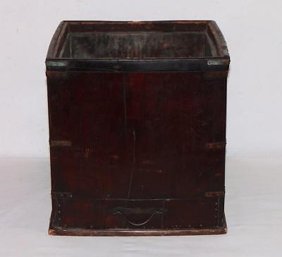 Antique WOOD COUNTER TOP COOLER-ICE CHEST w/BRASS LINING