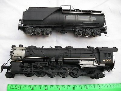 BROKEN AHM Rivarossi 5099, 2-10-2, Painted, Steam Locomotive, HO Scale - AS IS