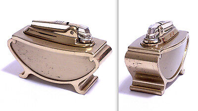 Accendino Da Tavolo Table Lighter Ronson Gas Varaflame In Ottone Dorato 1960