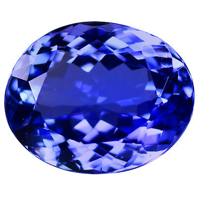 5.74 Ct GIL Certificate CharmingColorOval Cut 12 x 9 mm 100% Natural Tanzanite