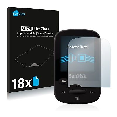 18x Savvies Screen Protector for SanDisk Sansa Clip Sport Ultra Clear