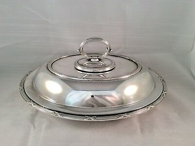 Quality Antique James Dixon & Sons Oval Entree Dish & Cover Serving Tureen C1900