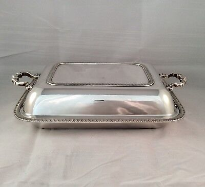 Quality Antique ADIE BROTHERS Silver Plated Serving Entree Dish & Cover  C1900