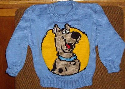 Scooby Doo Jumper  New Hand Knitted Size 4