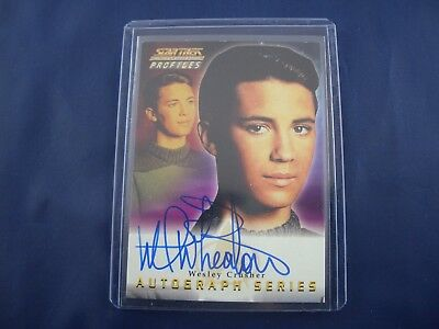 Star Trek Next Generation Autograph Card A4 Wil Wheaton as Wesley Crusher