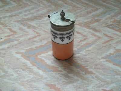 "George Jones ""Crescent"" China Mustard/Preserve Pot"