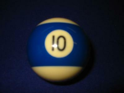 """10 (Ten) Ball.  2 1/4"""" Standard Pool Ball For Coin-Op Or Home Style Tables.  New"""