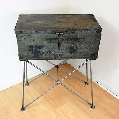 Vintage Army Box Storage Unit, Upcycled with Retro Legs