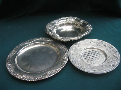 3 x Vintage Silver Plated Plates / Dishes – 1 is M&R
