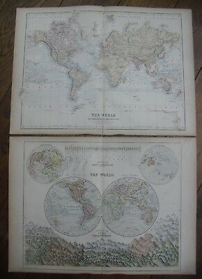 1867, Two World Maps from Black's Atlas